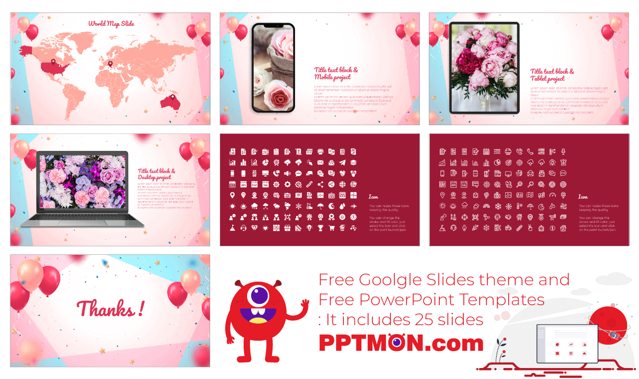 Colorful Birthday Presentation Background design Free PowerPoint Template Google Slides Theme