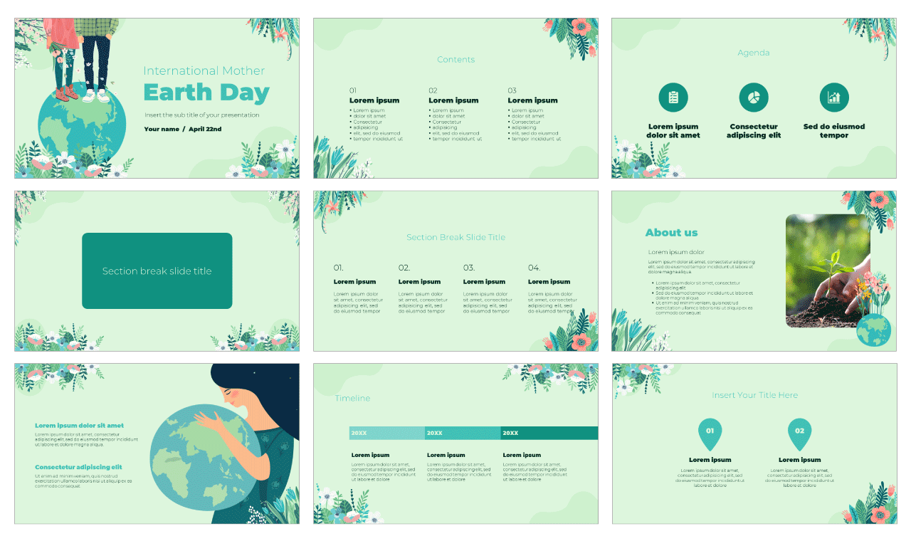 Earth Day Free PowerPoint Template Google Slides Theme