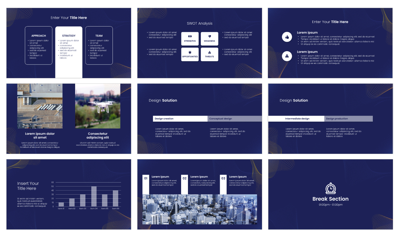 Futuristic Concept PowerPoint Template Google Slides Theme Free download