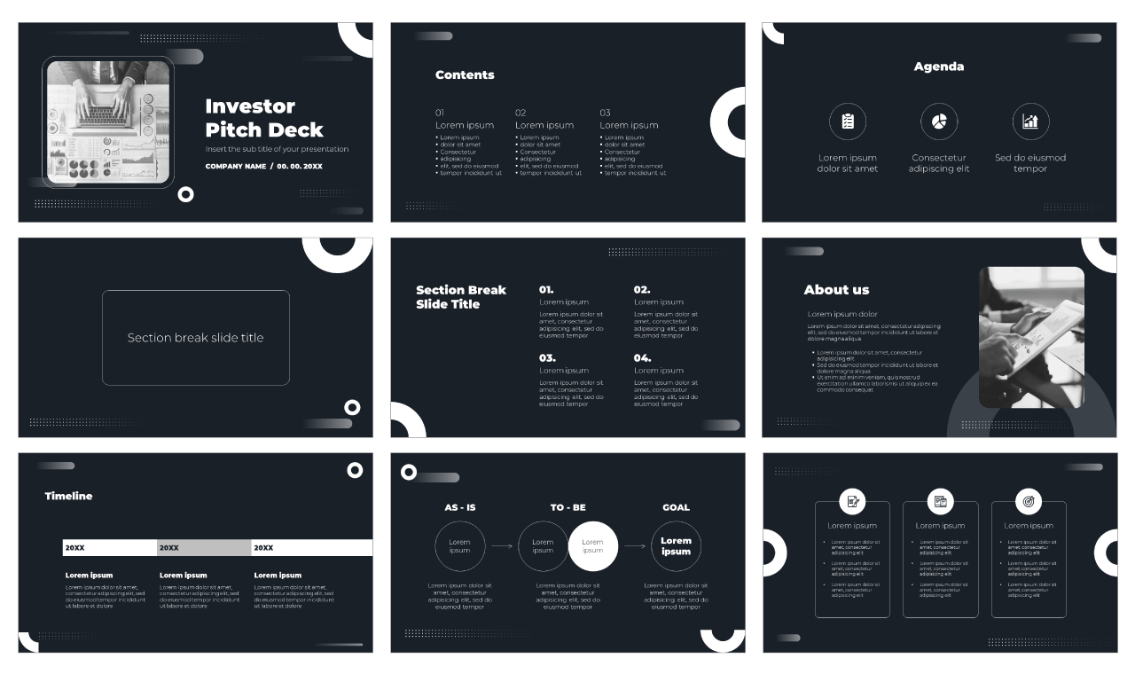 Investor Pitch Deck Free PowerPoint Template Google Slides Theme