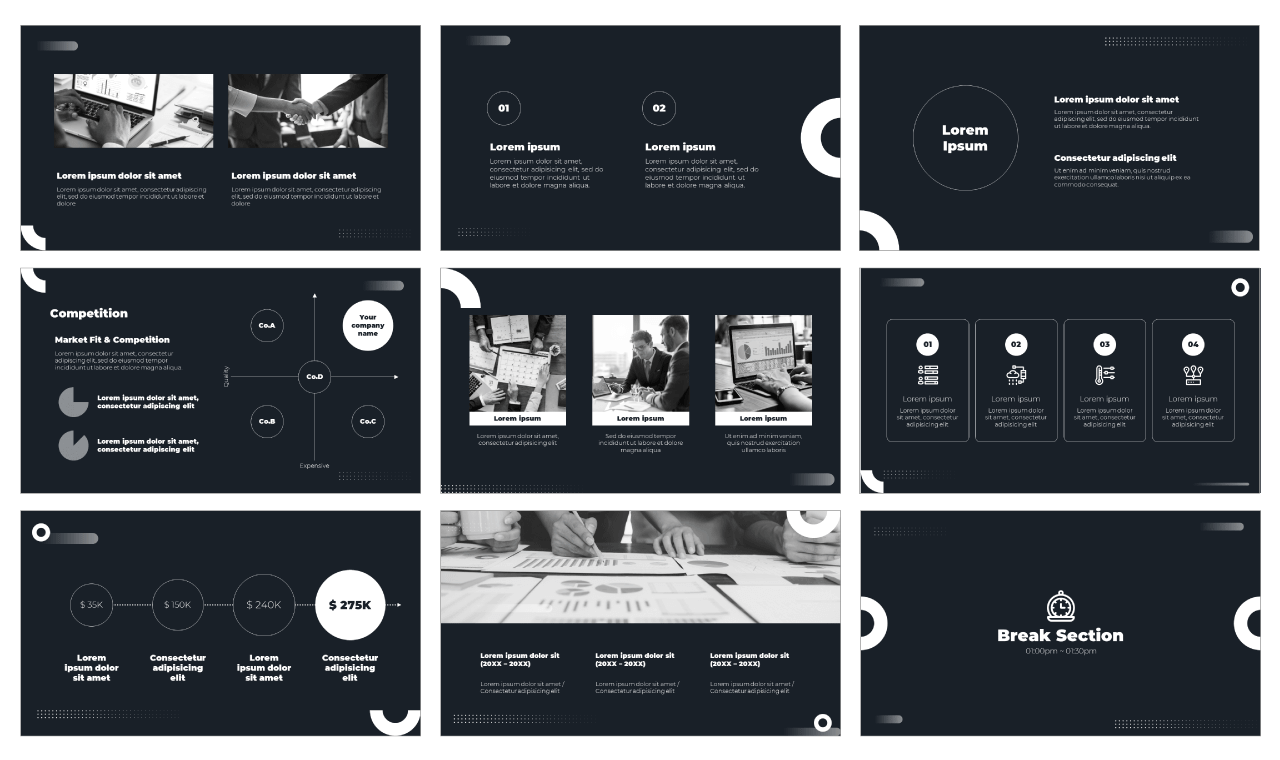 Investor Pitch Deck PowerPoint Template Google Slides Theme Free Download