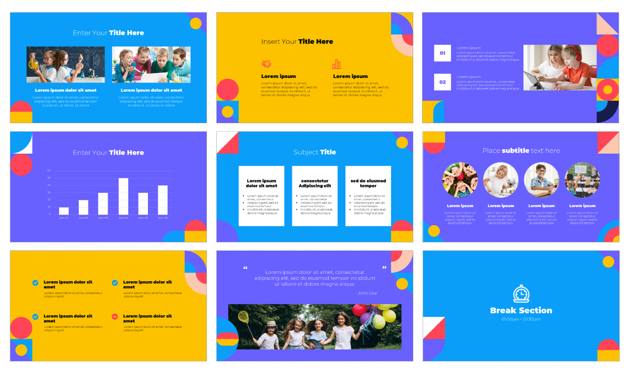 Geometric Lesson PowerPoint Template Google Slides Theme Free download