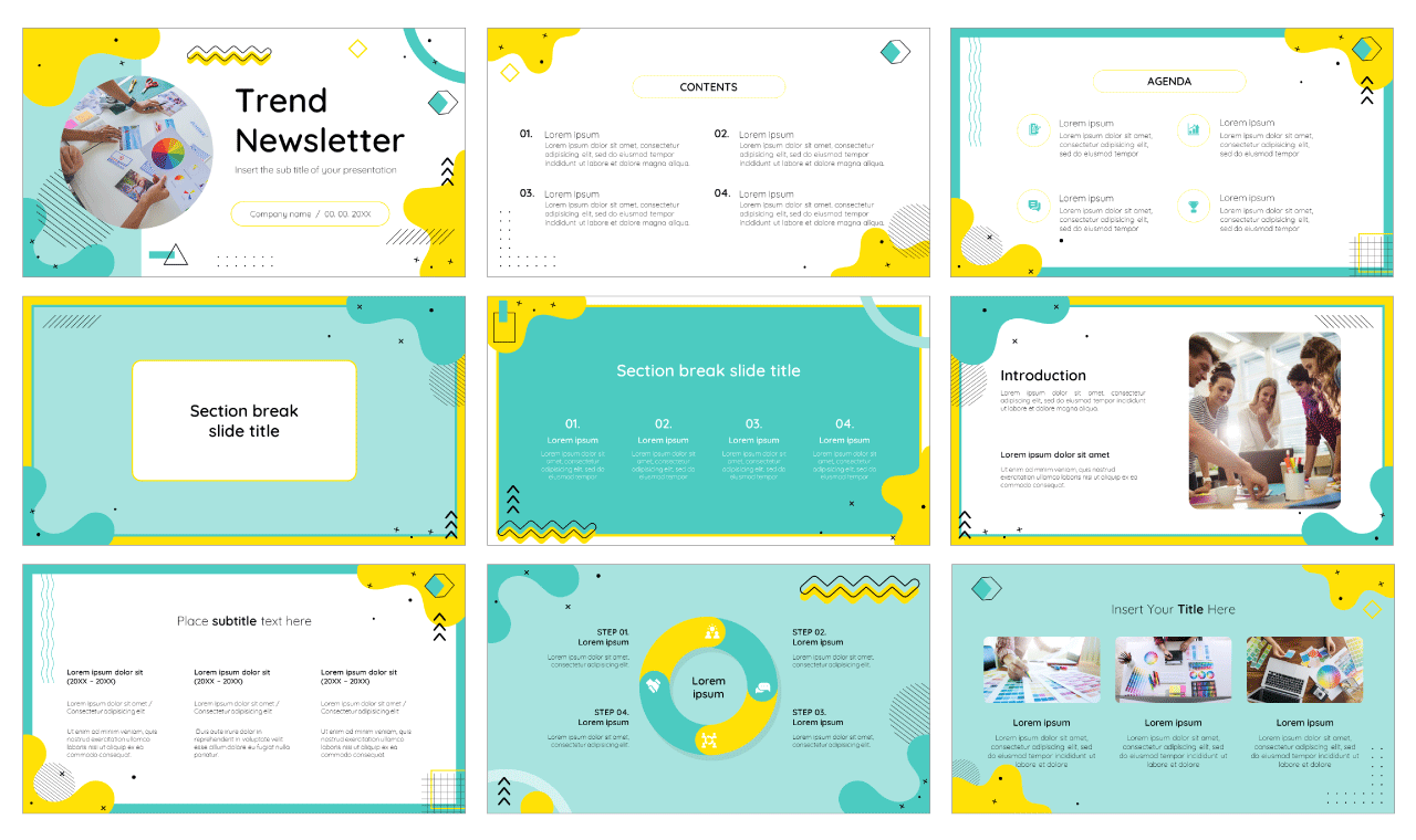 Trend Newsletter Free PowerPoint Template Google Slides Theme