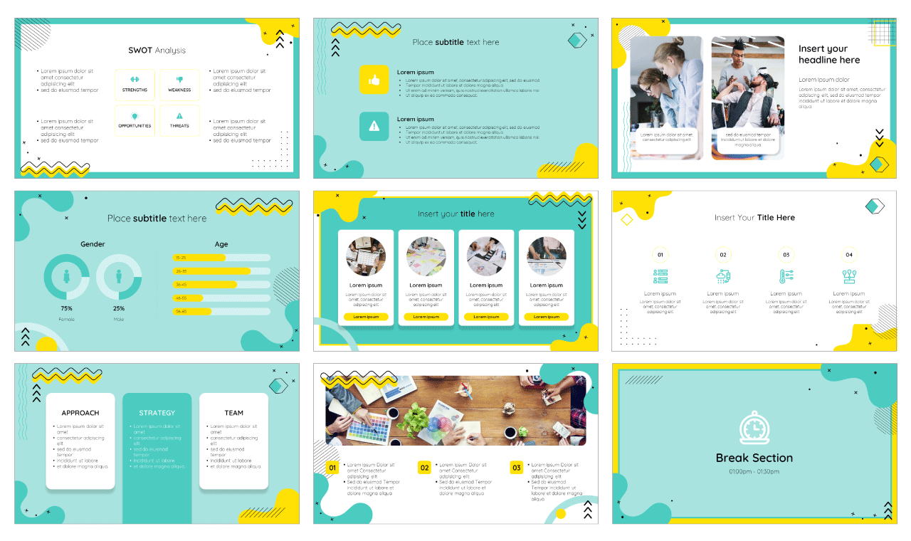 Trend Newsletter PowerPoint Template Google Slides Theme Free download