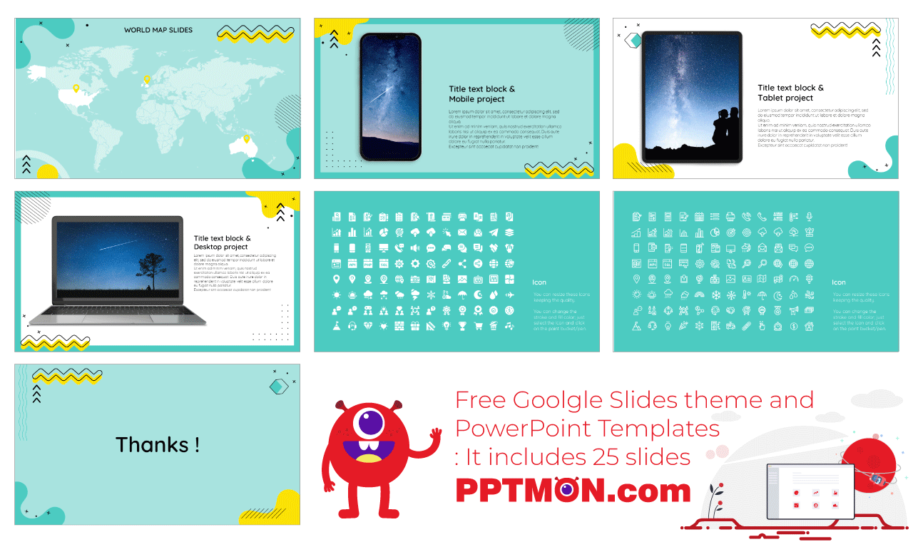 Trend Newsletter Presentation background design Free PowerPoint Template Google Slides Theme
