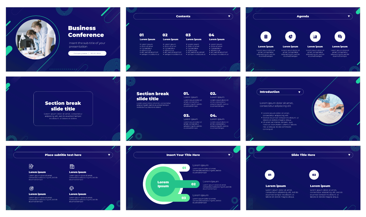 Business Conference Free PowerPoint Template Google Slides Theme
