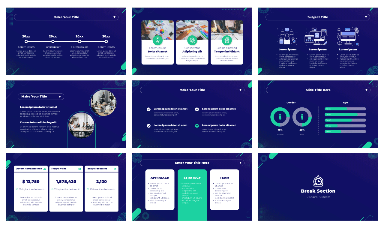 Business Conference PowerPoint Template Google Slides Theme Free download